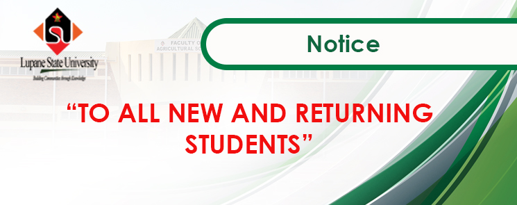 Notice for All Returning Students and all Part 1.1