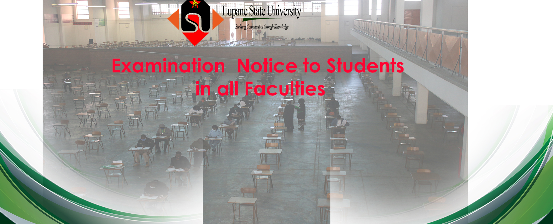 Examination Notice to Students in all Faculities