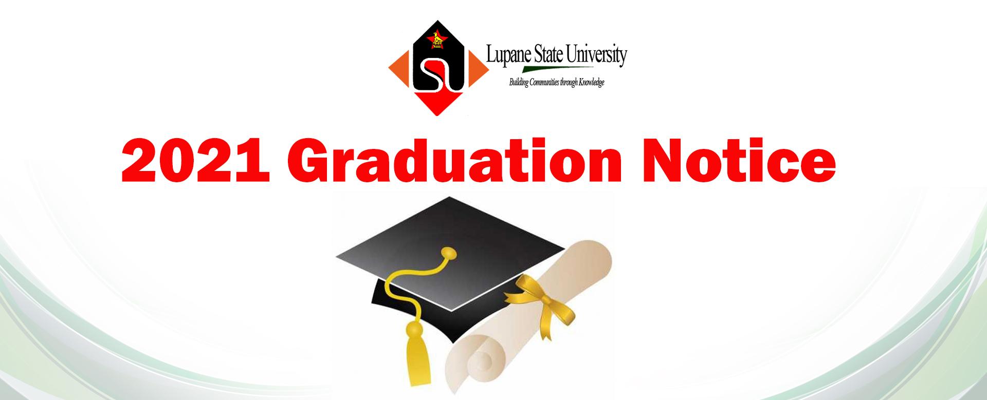 2021 Graduation Notice