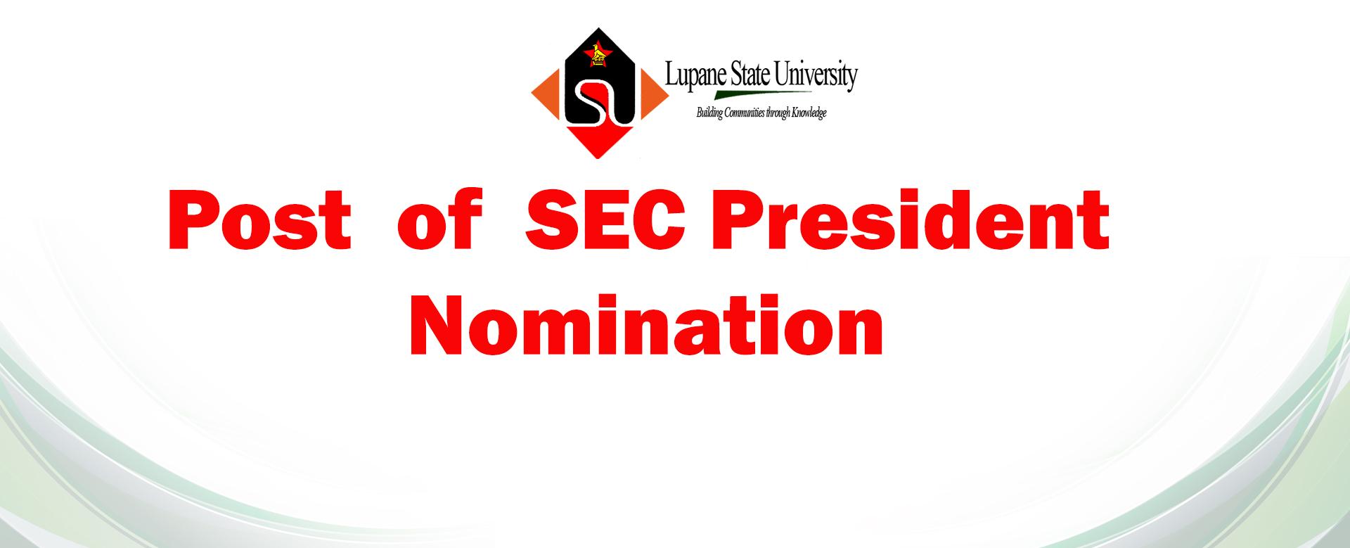 SEC President Nominations